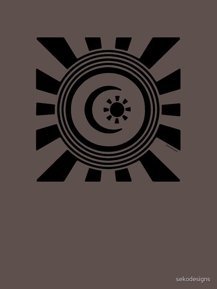 Mandala 34 Back In Black by sekodesigns