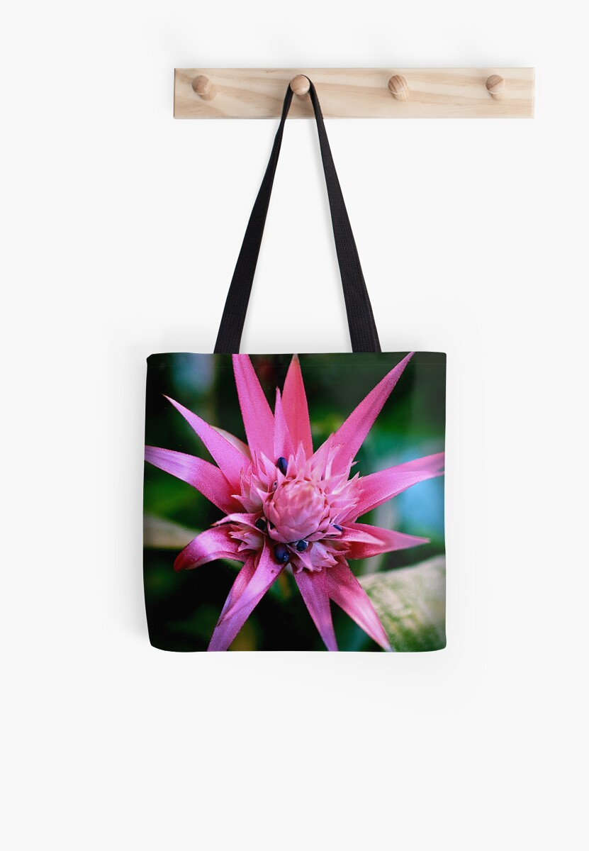 Pink Spiky Flower Tote Bags By Prisnexus6 Redbubble