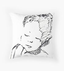 Refugee child Throw Pillow