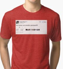 Young Thug No Homo We Smokin Tweet Tri-blend T-Shirt