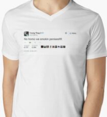 Young Thug No Homo We Smokin Tweet Men's V-Neck T-Shirt