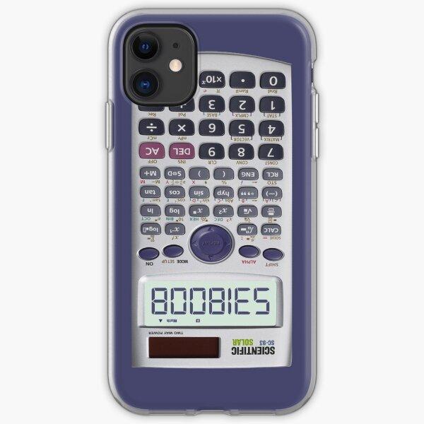 Spelling Boobies on My Calculator iPhone Soft Case