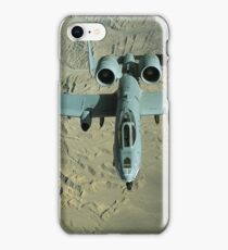 A U.S. Air Force Air Force A-10 Thunderbolt II in-flight over Afghanistan. iPhone Case/Skin