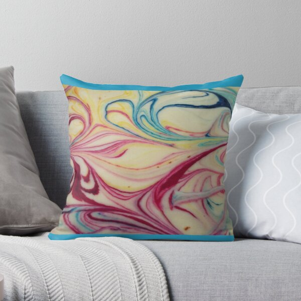 Marble Cake Throw Pillow