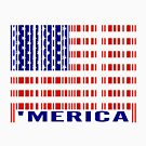 'MERICA Barcode USA Flag  by EthosWear