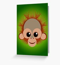 Orangután bebé Greeting Card