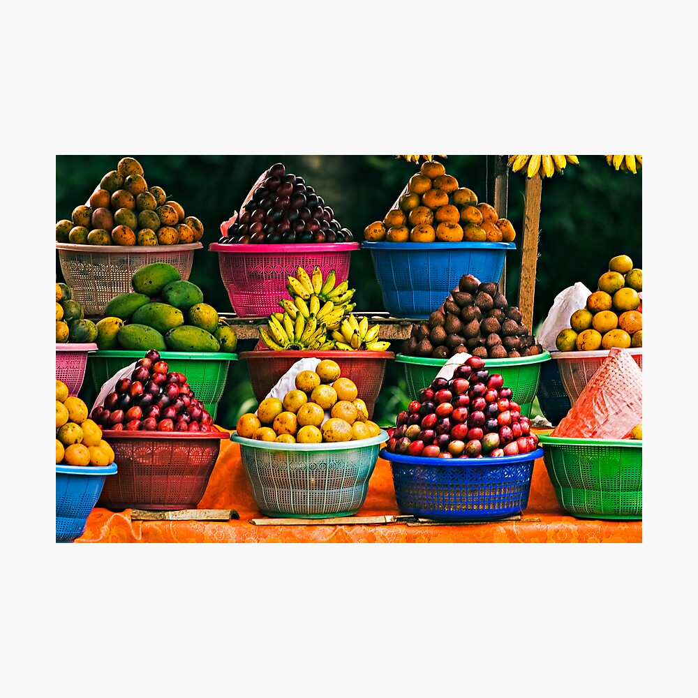 Bali Fruit Stand Photographic Print By Mattk Redbubble