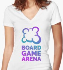 Board Game Arena Women's Fitted V-Neck T-Shirt