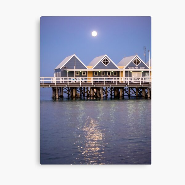 Super moon reflection at Busselton Canvas Print