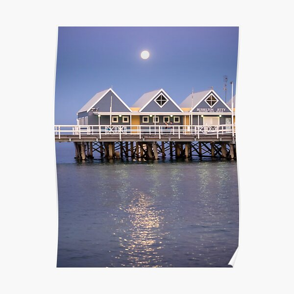 Super moon reflection at Busselton Poster