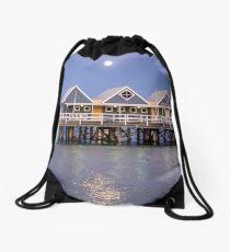 Super moon reflection at Busselton Drawstring Bag