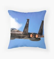 An F-15 Eagle in flight. Throw Pillow