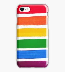 Vector rainbow watercolor brush strokes iPhone Case/Skin