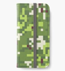 Camouflage military background in pixel style. Seamless pattern. iPhone Wallet/Case/Skin