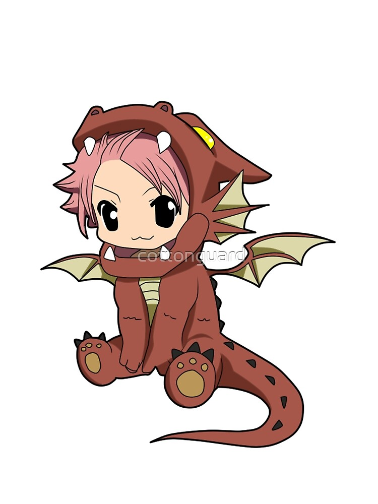 """Natsu Dragneel chibi dragon"" by cottonguard | Redbubble"