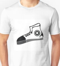 illustration with running shoe on a white  background for your design T-Shirt