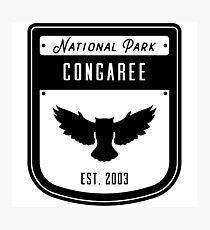 Congaree National Park Badge Design Photographic Print