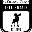 Isle Royale Nationalpark Abzeichen Design von nationalparks
