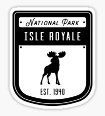 Isle Royale National Park Badge Design Sticker