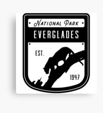 Everglades National Park Badge Design Canvas Print