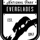 Everglades Nationalpark Abzeichen Design von nationalparks