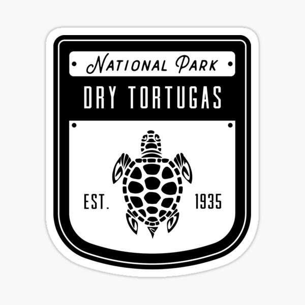 Dry Tortugas National Park Badge Design Sticker