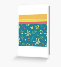 Spoonflower Doodle Greeting Card