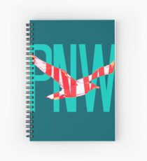PNW Coastal Seagull Spiral Notebook