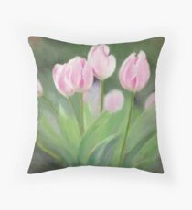 In The Pink (Tulips) Throw Pillow