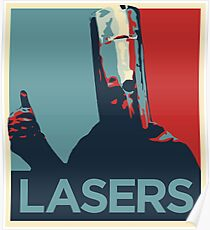 Lord Buckethead Lasers Poster