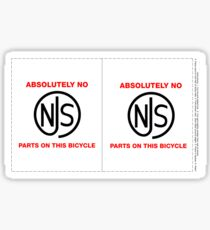 No NJS Parts Spoke Card Sticker