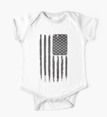 American flag Grunge Black Kids Clothes