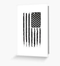 American flag Grunge Black Greeting Card