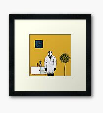 Doctor Badger Framed Print