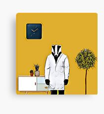 Doctor Badger Canvas Print