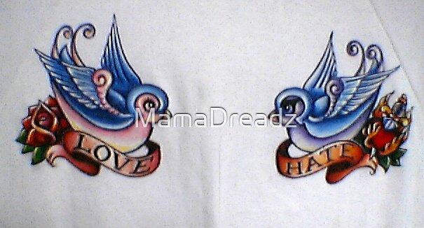 Old Skool Tattoo Blu Birdz by MamaDreadz