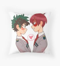 Todoroki x Midoriya  Throw Pillow