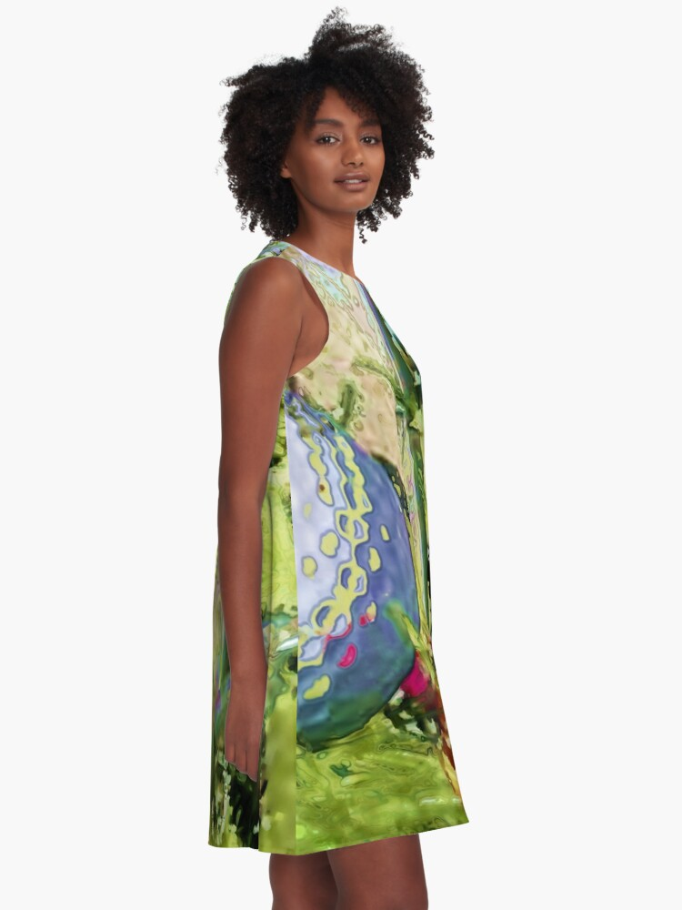Alternate view of Golf club graphic style A-Line Dress
