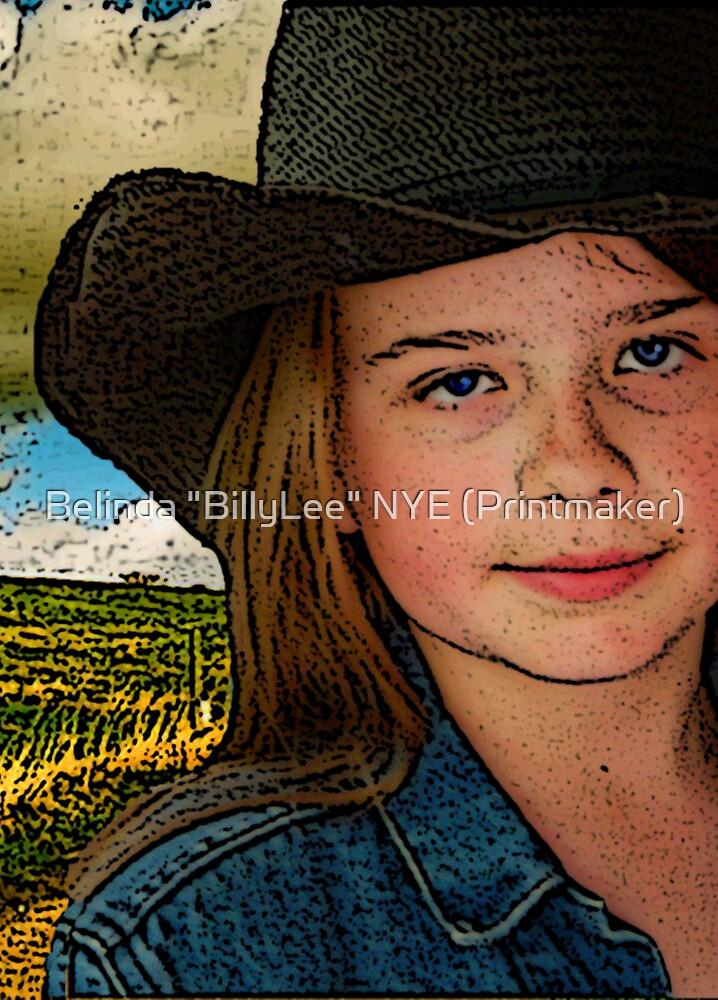 """""""When I Grow Up I Wanna Cowboy..."""" by Belinda """"BillyLee"""" NYE (Printmaker)"""