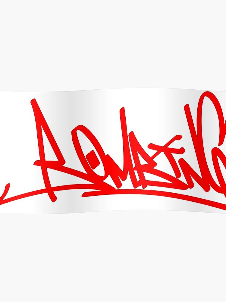 graffiti letters creator drawings alphabet   Poster