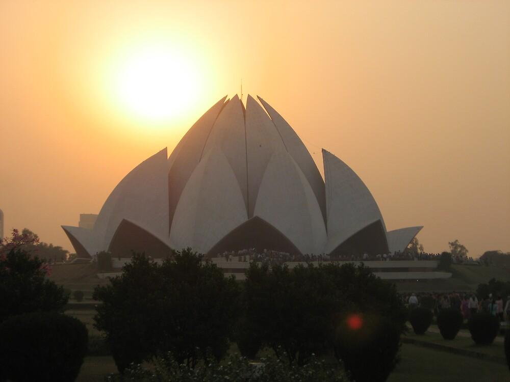 Lotus Temple - New Delhi, India by Alice Chai
