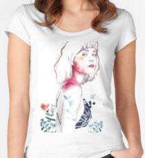 SENSE Camiseta entallada de cuello ancho