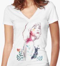 SENSE Camiseta entallada de cuello en V