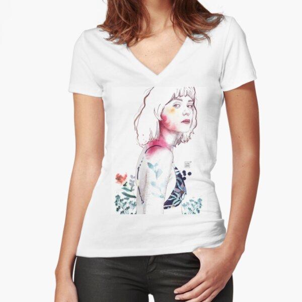 SENSE Fitted V-Neck T-Shirt