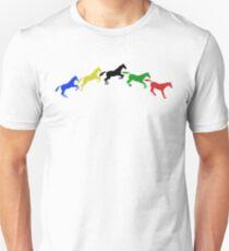 Five horses leaping Unisex T-Shirt