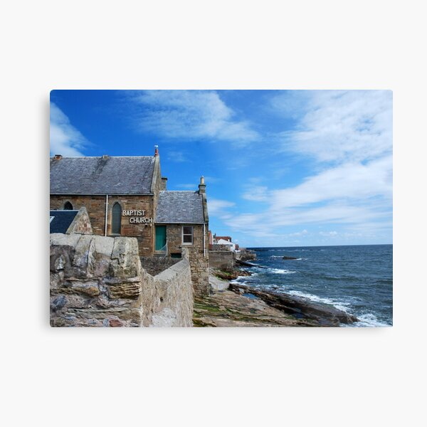 Coastline at Anstruther Metal Print