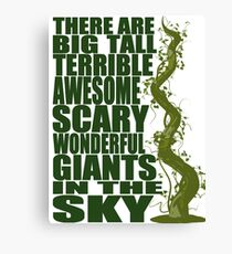 There Are Giants in the Sky! Canvas Print