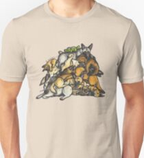 Sleeping pile of Malinois dogs Unisex T-Shirt