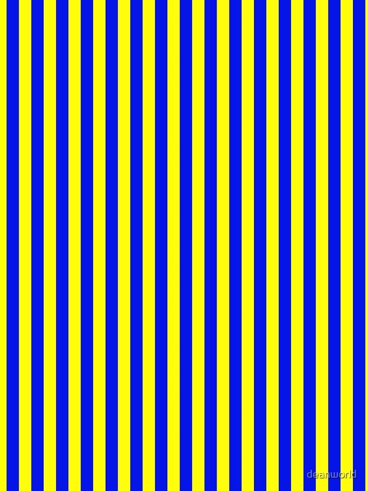 Blue and Yellow Striped Slimming Swedish Dress by deanworld