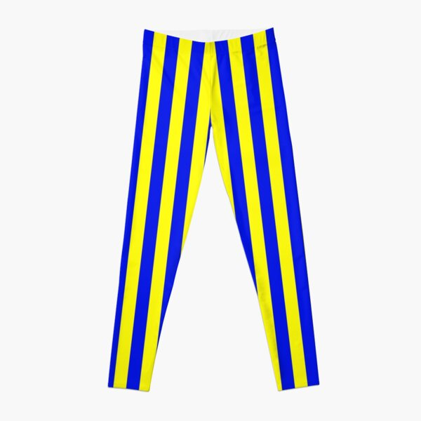 Blue and Yellow Striped Slimming Swedish Dress Leggings